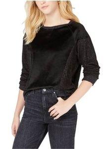 NWT Hippie Rose Gray and Black Velvet Sweatshirt